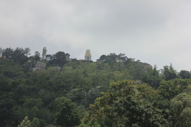 Biligiriranganatha Swamy Temple as seen from the BR Hills lake