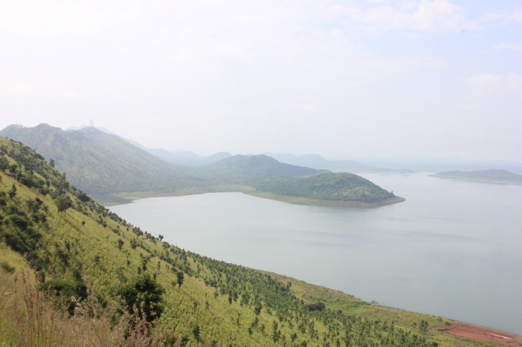 View of the backwaters from one of the hill in the catchment area of Vani Vilas Sagara