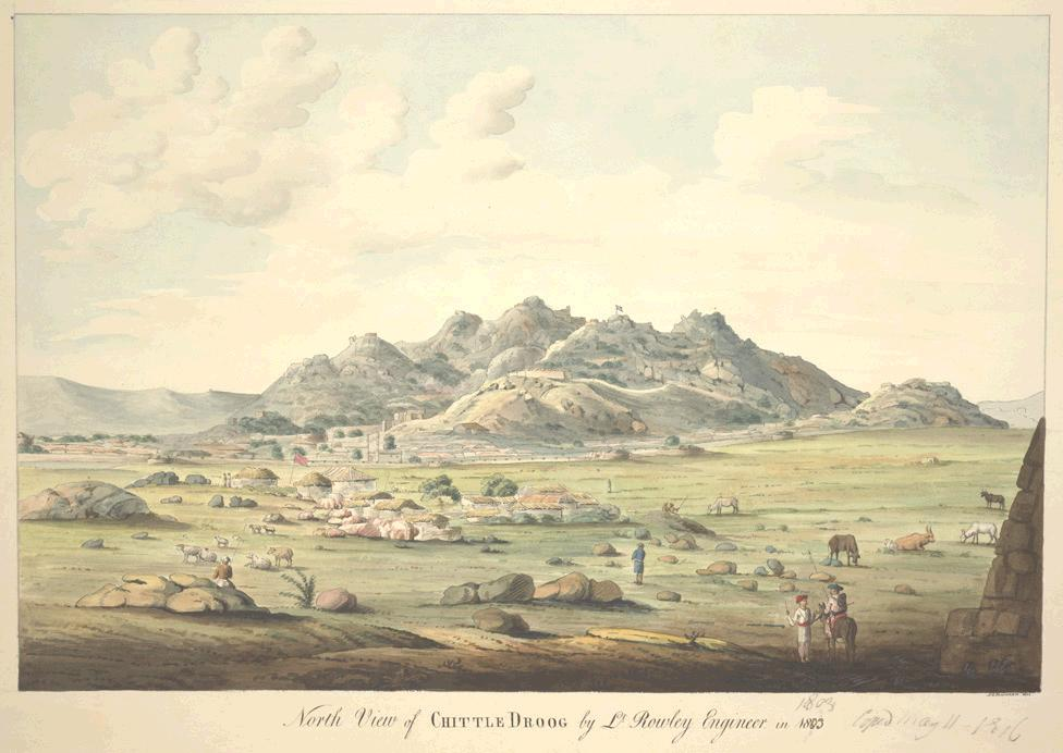 Painting of Chitradurga Fort