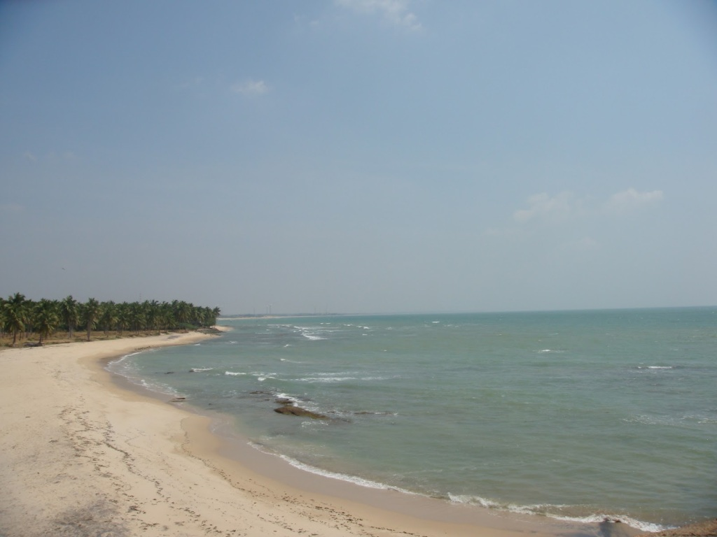 The adjacent beach